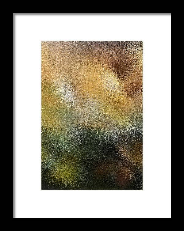 Abstract Framed Print featuring the photograph Through A Glass Lightly by Michele Myers