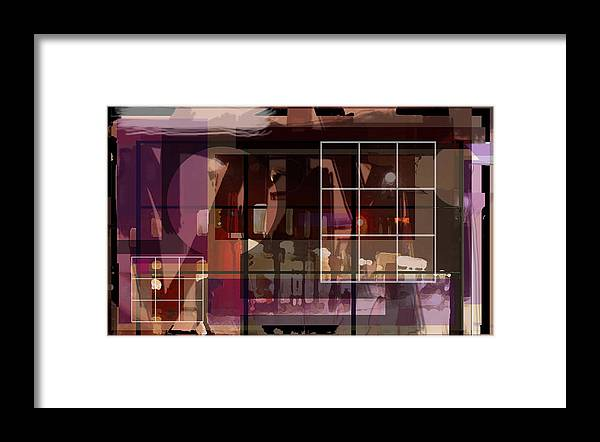 Abstract Vision Images Framed Print featuring the digital art Through A Window by DC Campbell