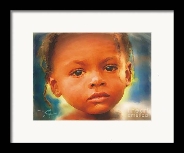 Haiti Framed Print featuring the painting Through My Eyes by Bob Salo
