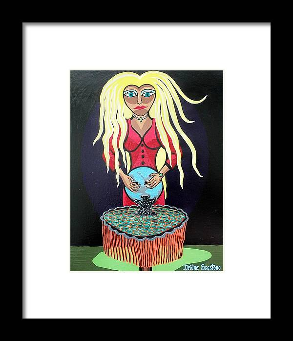 Fortune Teller Framed Print featuring the painting Through The Eye's Of A Fortune Teller by Deidre Firestone