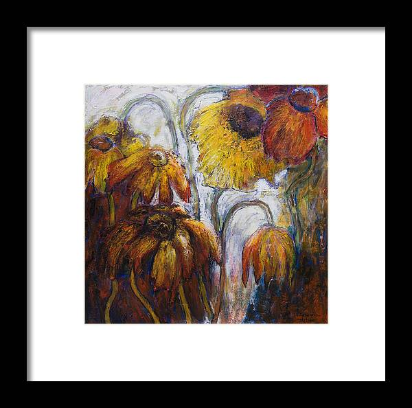 Flowers Framed Print featuring the painting Through The Looking Glass by Jeremy Holton
