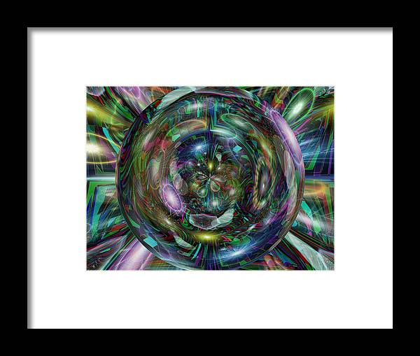 Abstract Framed Print featuring the digital art Through The Looking Glass by Tim Allen