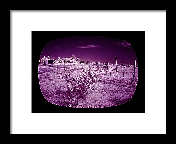 Infrared Framed Print featuring the photograph Through The Tv by Galeria Trompiz