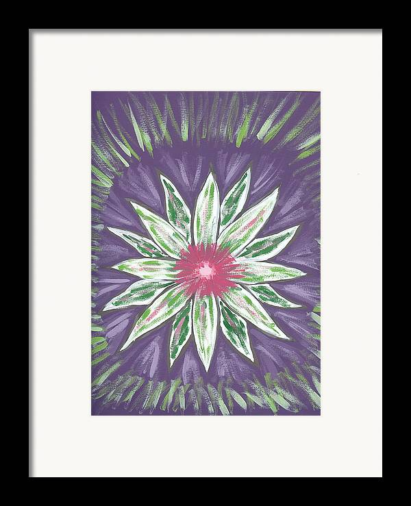 Flower Framed Print featuring the painting Through The Twilight by Laura Lillo