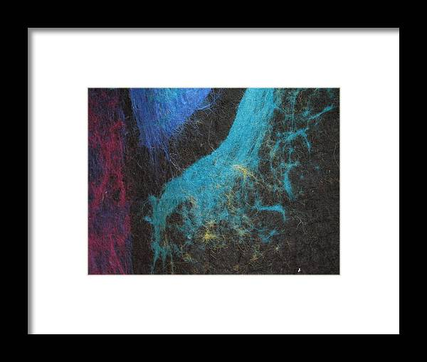 Felt Framed Print featuring the tapestry - textile Through The Western Window by Kseniya Nelasova