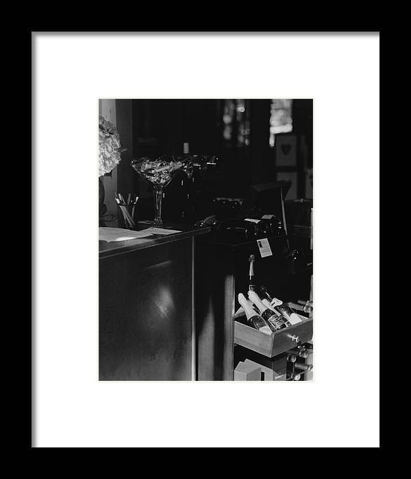 Still Life Framed Print featuring the photograph Through The Wine Shop Window by Jim Furrer