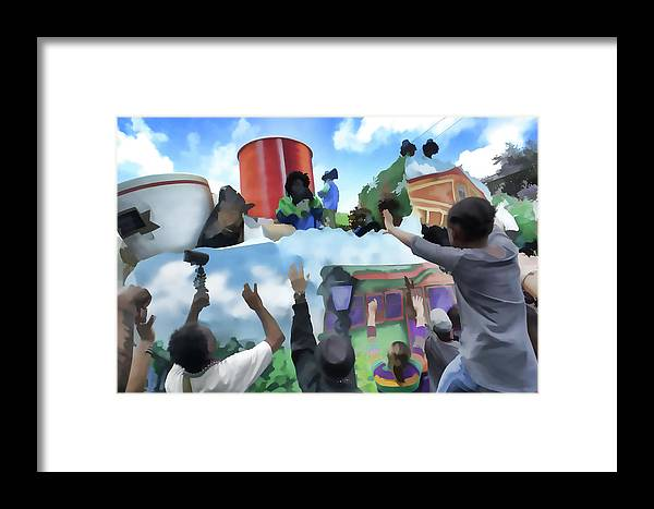Framed Print featuring the photograph Throw Me Sumin' by Anthony Walker Sr