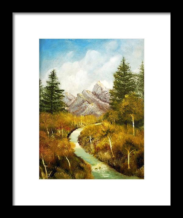 Painting Framed Print featuring the painting Thru the ASpens and Up the Mountain by Jack Hampton