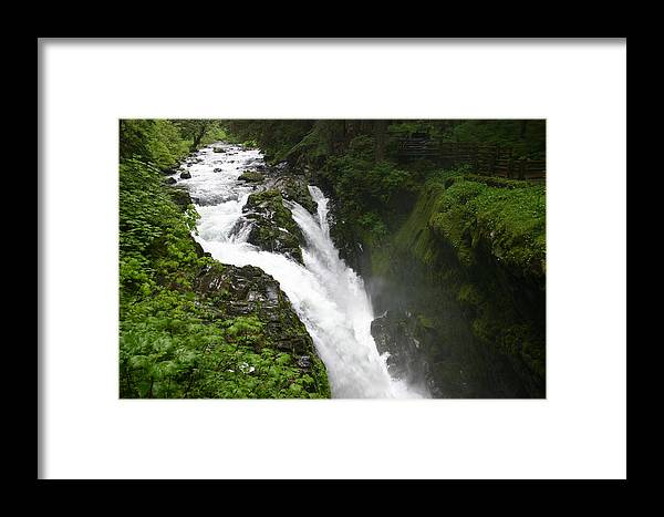 Waterfall Framed Print featuring the photograph Thunder In The Northwest by Amanda Clark
