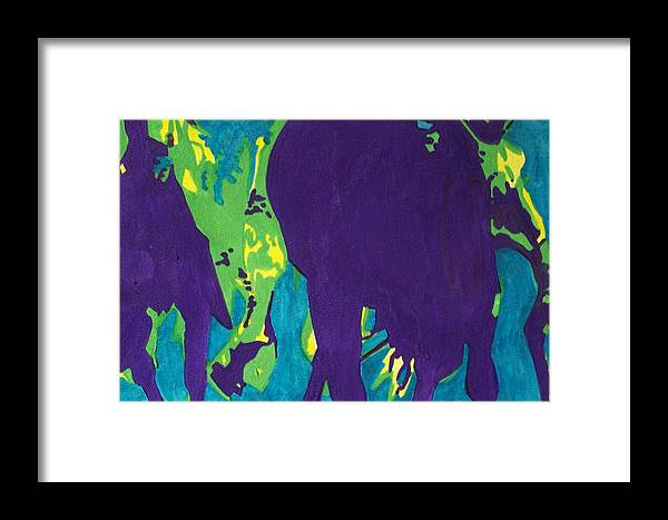 Horse Framed Print featuring the painting Thunder by Jane Hanson