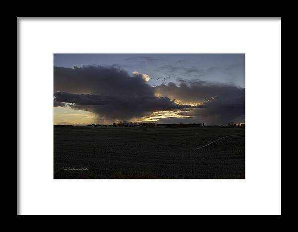 Thunder Framed Print featuring the photograph Thunder On The Prairie by Tom Buchanan