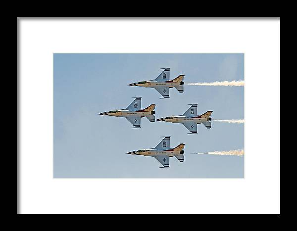 Thunderbirds Framed Print featuring the photograph Thunderbirds 1-4 Turning 2627 by BuffaloWorks Photography