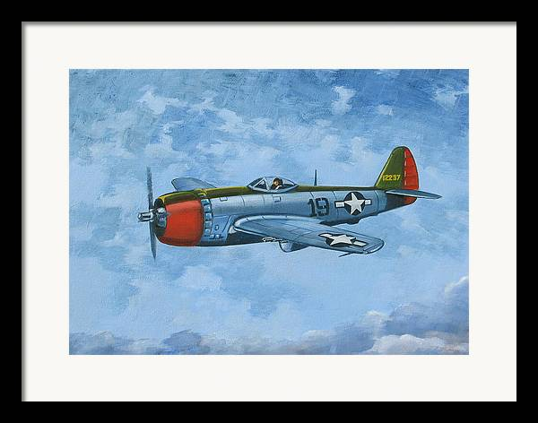 Airplanes Framed Print featuring the painting Thunderbolt by Murray McLeod