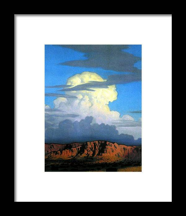 Weather Framed Print featuring the painting Thunderhead by Kevin Lawrence Leveque