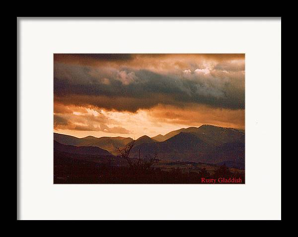 English Landscape Framed Print featuring the photograph Thunderhead by Rusty Woodward Gladdish