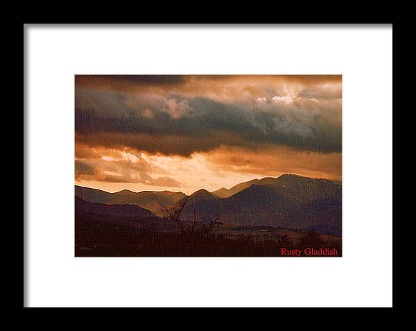 English Landscape Framed Print featuring the photograph Thunderhead by Rusty Gladdish