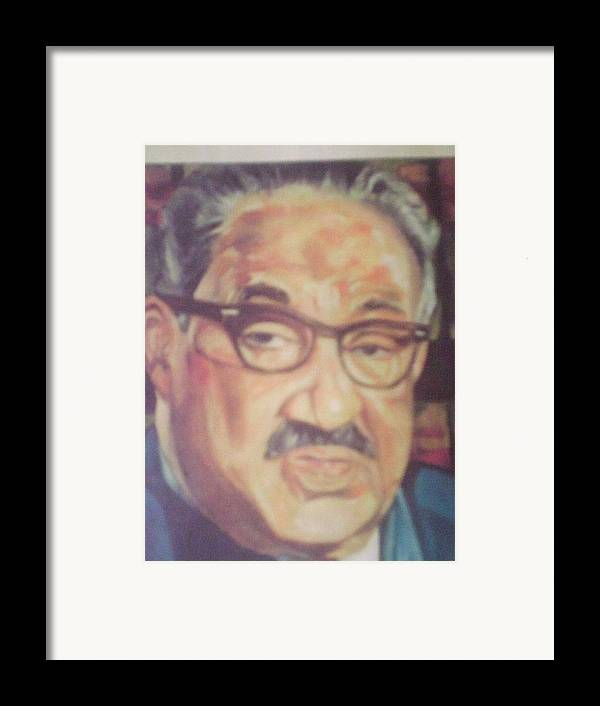 Portraits Framed Print featuring the painting Thurgood Marshall by Impressionist FineArtist Tucker Demps Collection