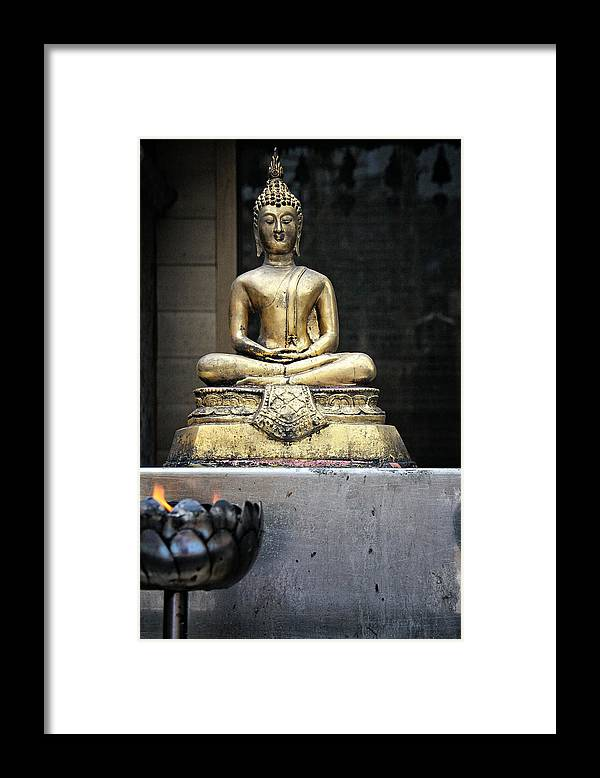 Buddha Framed Print featuring the photograph Thursday Child by Lois Romer