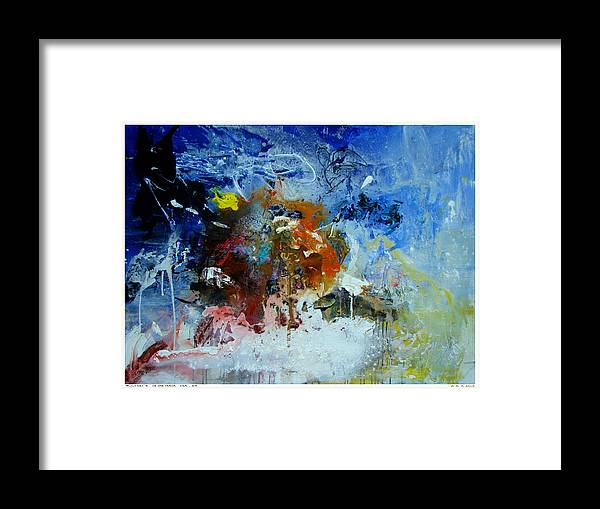 Abstract Jlo Thx Framed Print featuring the painting Thx1351-3 by Jlo Jlo
