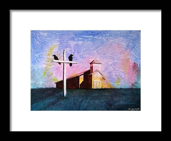 Raven Framed Print featuring the painting Thy God Has Lent Thee by Sandy Applegate