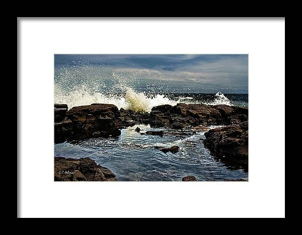 Waves Framed Print featuring the photograph Tide Coming In by Christopher Holmes