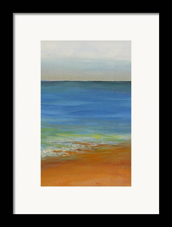 Ocean Framed Print featuring the painting Tide by David McKee
