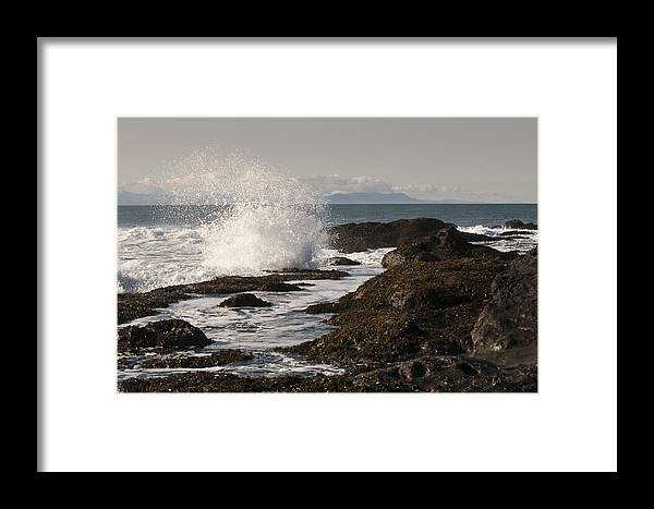 Waves Framed Print featuring the photograph Tide Pool Wave by Chad Davis