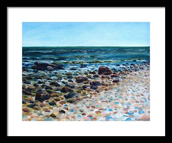Montauk Point Framed Print featuring the painting Tides Out by Ralph Papa