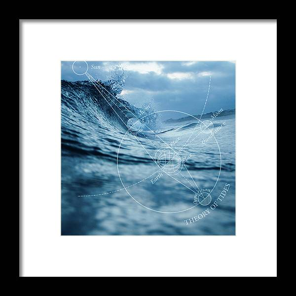Ocean Framed Print featuring the digital art Tides by Roberta Boe