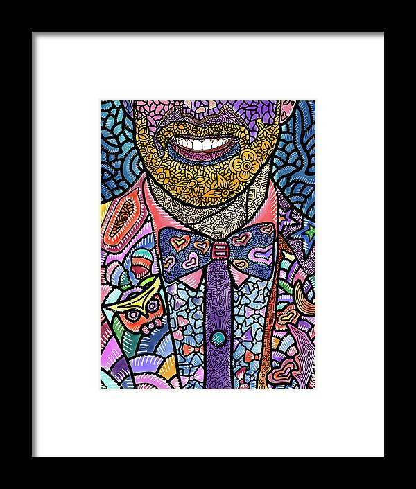 Jessie Tyler Ferguson Framed Print featuring the digital art Tie the Knot for Equality by Marconi Calindas