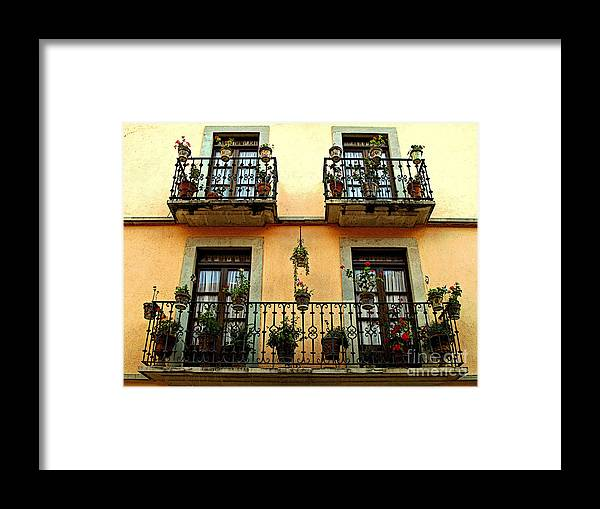 Darian Day Framed Print featuring the photograph Tiered Balconies by Mexicolors Art Photography