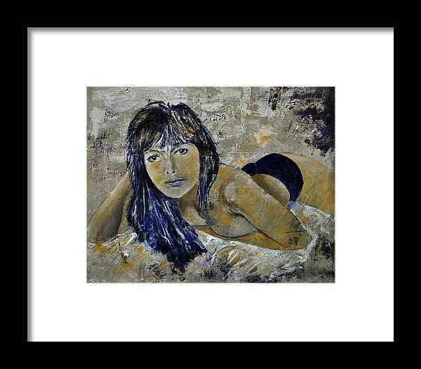 Girl Framed Print featuring the painting Tiffany 45 by Pol Ledent