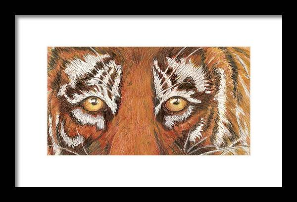 Tiger Framed Print featuring the painting Tiger Eyes 2 by Patricia R Moore