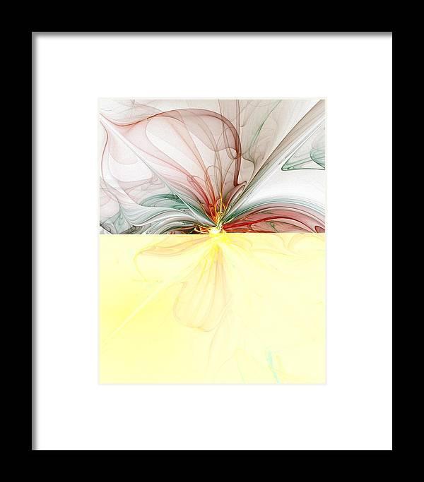 Digital Art Framed Print featuring the digital art Tiger Lily by Amanda Moore