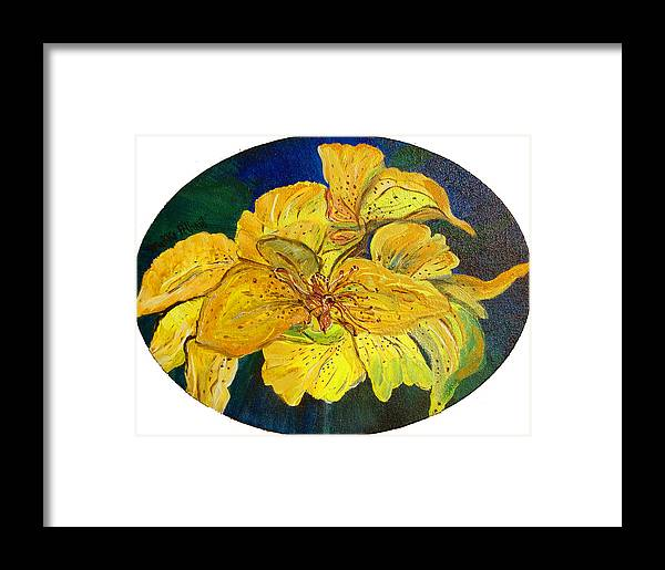 Tiger Lily Framed Print featuring the painting Tiger Lily by Mikki Alhart