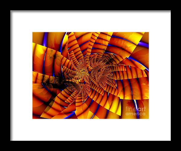 Flower Framed Print featuring the digital art Tiger Lily by Ron Bissett