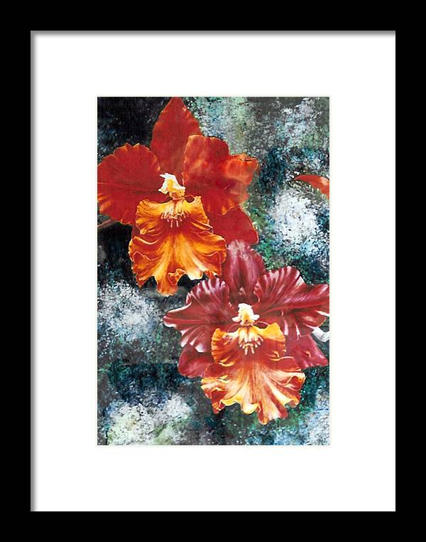 Flowers Framed Print featuring the print Tiger Orchids by JoLyn Holladay