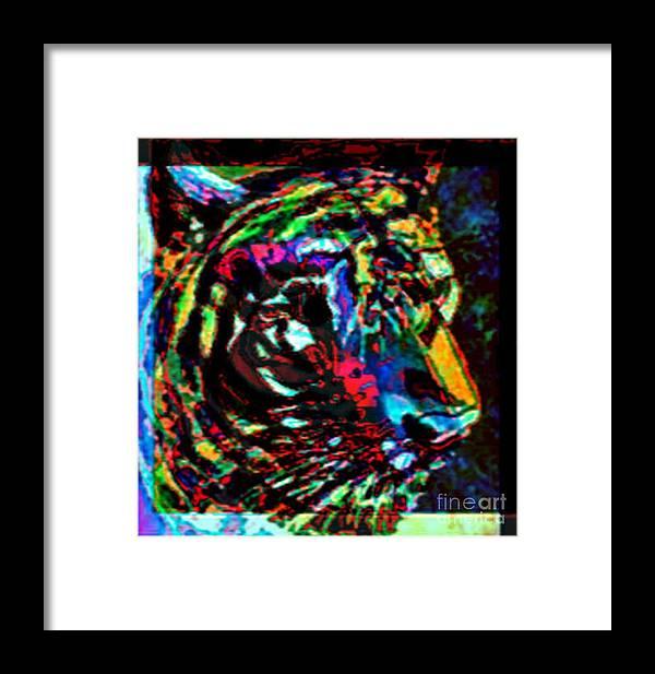 Wildlife Framed Print featuring the digital art Tiger Se by Brenda L Spencer