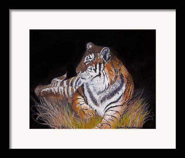 Tiger Framed Print featuring the print Tiger Tiger Burning Bright by George Markiewicz