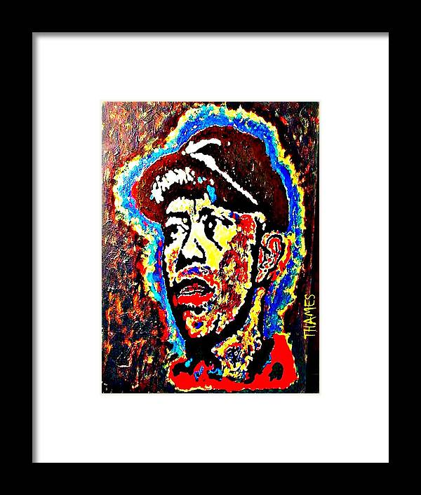 Tiger Framed Print featuring the painting Tiger Woods by Christopher Thames