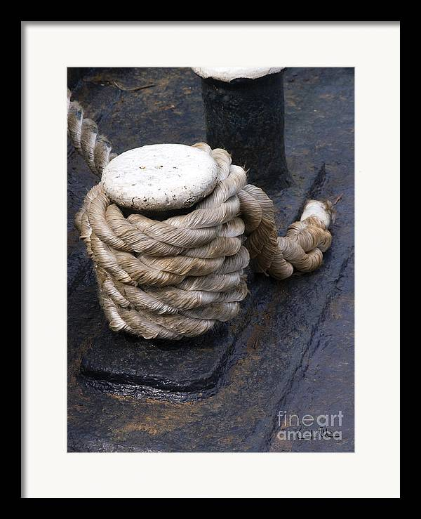 Rope Framed Print featuring the photograph Tight Rope by Carlos Alvim