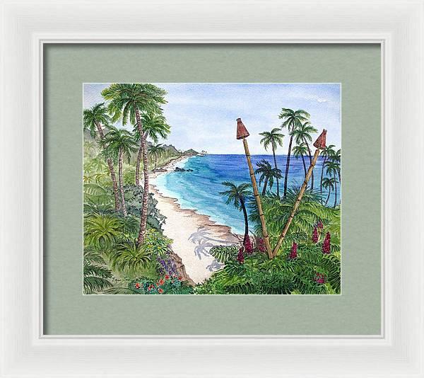 Tiki Torches in Maui by Bonnie Sue Schwartz