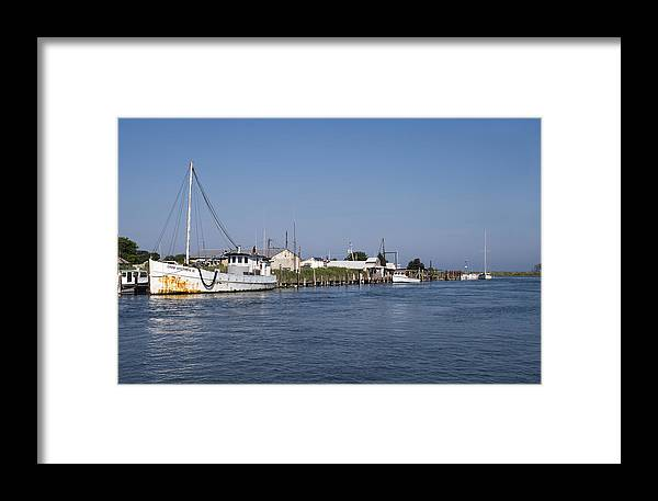 Eastern Shore Framed Print featuring the photograph Tilghman Island Water Way Eastern Shore Of Maryland by Brendan Reals