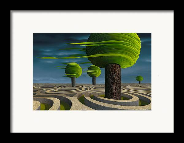 Tree Framed Print featuring the painting Tilia Arbora by Patricia Van Lubeck