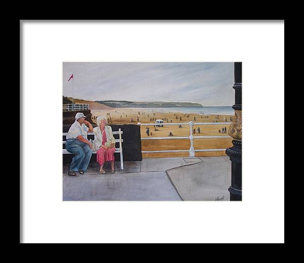 Couple Framed Print featuring the painting Till Death Us Do Part by Victoria Heryet