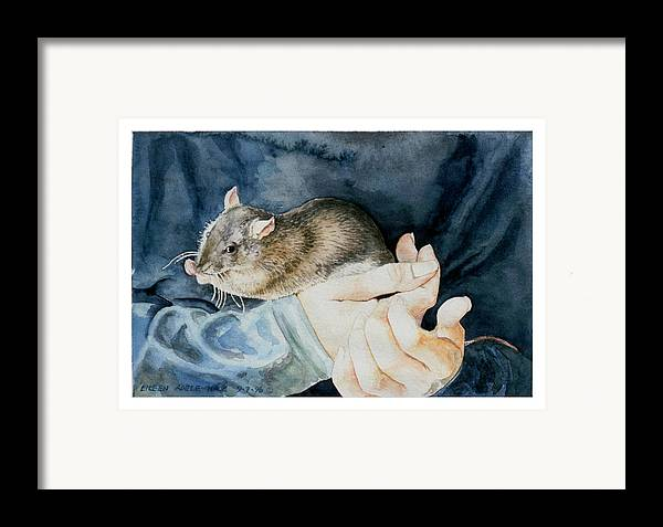 Portrait Framed Print featuring the painting Tilly by Eileen Hale
