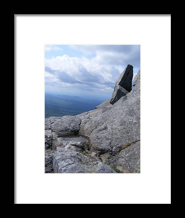 Landscape Framed Print featuring the photograph Tilted Rock by Alison Heckard