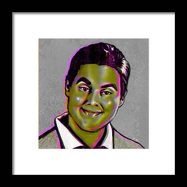 Tim And Eric Framed Print featuring the painting Tim Heidecker by Fay Helfer