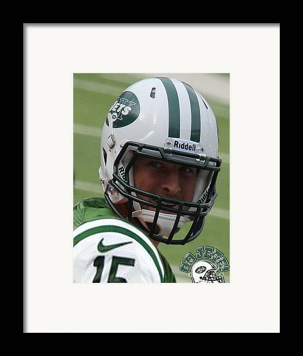 Lee Dos Santos Framed Print featuring the photograph Tim Tebow - New York Jets Florida Gators - Timothy Richard Tebow by Lee Dos Santos