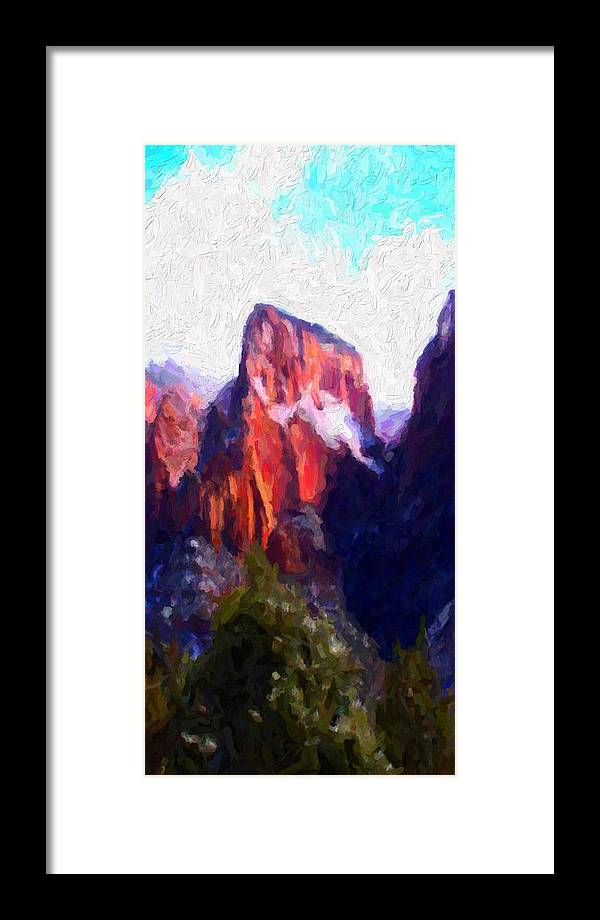 Digital Framed Print featuring the digital art Timber Top by David Hansen